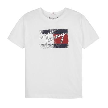 tekstylia Dziewczynka T-shirty z krótkim rękawem Tommy Hilfiger MONCHE Biały