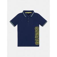tekstylia Chłopiec Koszulki polo z krótkim rękawem Guess L1GP00-KADZ0-DEKB Marine