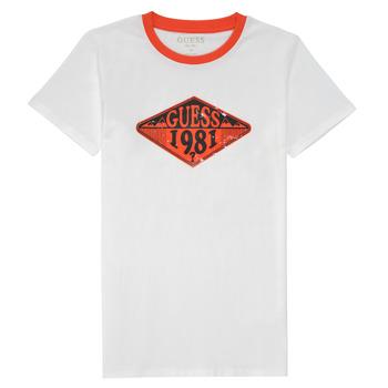tekstylia Chłopiec T-shirty z krótkim rękawem Guess L1GI09-K8HM0-TWHT Biały
