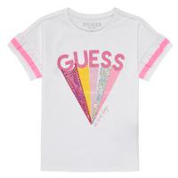 tekstylia Dziewczynka T-shirty z krótkim rękawem Guess K1RI04-K6YW1-TWHT Biały