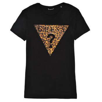tekstylia Dziewczynka T-shirty z krótkim rękawem Guess J1RI27-K9MV0-P954 Czarny