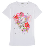tekstylia Dziewczynka T-shirty z krótkim rękawem Guess J1RI24-K6YW1-TWHT Biały