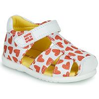 Buty Dziewczynka Sandały Agatha Ruiz de la Prada HAPPY Biały / Czerwony