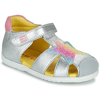 Buty Dziewczynka Sandały Agatha Ruiz de la Prada HAPPY Srebrny