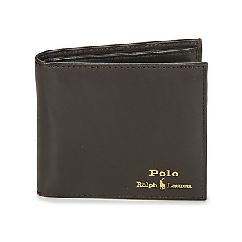Torby Męskie Portfele Polo Ralph Lauren GLD FL BFC-WALLET-SMOOTH LEATHER Czarny