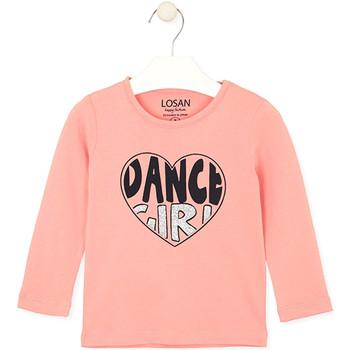 tekstylia Dziecko T-shirty i Koszulki polo Losan 026-1632AL Różowy