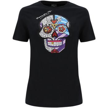 tekstylia Damskie T-shirty i Koszulki polo Freddy F0WBRT2 Czarny