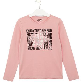 tekstylia Dziecko T-shirty i Koszulki polo Losan 024-1631AL Różowy