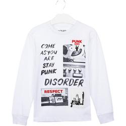 tekstylia Dziecko T-shirty i Koszulki polo Losan 023-1000AL Biały