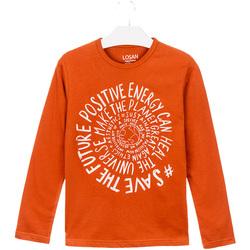 tekstylia Dziecko T-shirty i Koszulki polo Losan 023-1013AL Pomarańczowy