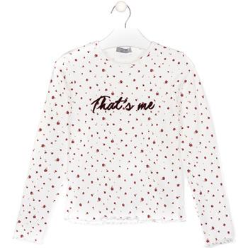 tekstylia Dziecko T-shirty i Koszulki polo Losan 024-1008AL Biały