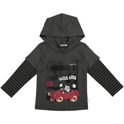 tekstylia Dziecko Bluzy Melby 40C2062DN Szary