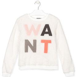 tekstylia Dziecko Bluzy Losan 024-6021AL Biały