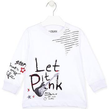 tekstylia Dziecko T-shirty i Koszulki polo Losan 025-1000AL Biały