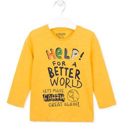 tekstylia Dziecko T-shirty i Koszulki polo Losan 025-1005AL Żółty