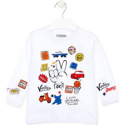 tekstylia Dziecko T-shirty z długim rękawem Losan 025-1026AL Biały