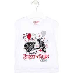 tekstylia Dziecko T-shirty i Koszulki polo Losan 026-1000AL Biały