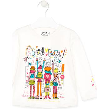 tekstylia Dziecko T-shirty i Koszulki polo Losan 026-1003AL Biały