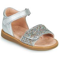 Buty Dziewczynka Sandały Acebo's 1232-PLATA Srebrny