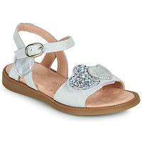 Buty Dziewczynka Sandały Acebo's 5500SU-BLANCO Biały / Srebrny