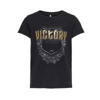 tekstylia Dziewczynka T-shirty z krótkim rękawem Only KONLINA Czarny