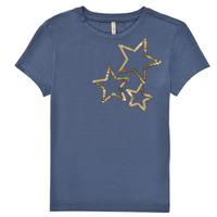 tekstylia Dziewczynka T-shirty z krótkim rękawem Only KONMOULINS STAR Niebieski