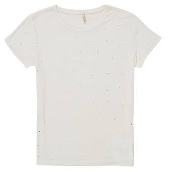 tekstylia Dziewczynka T-shirty z krótkim rękawem Only KONMOULINS Biały