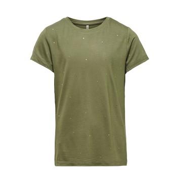 tekstylia Dziewczynka T-shirty z krótkim rękawem Only KONMOULINS Kaki