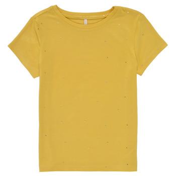 tekstylia Dziewczynka T-shirty z krótkim rękawem Only KONMOULINS Żółty