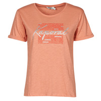 tekstylia Damskie T-shirty z krótkim rękawem Kaporal PUZZU Różowy