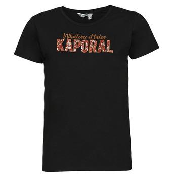tekstylia Damskie T-shirty z krótkim rękawem Kaporal PENIN Czarny