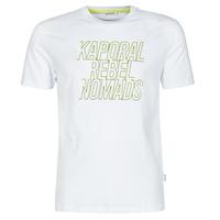 tekstylia Męskie T-shirty z krótkim rękawem Kaporal DARIN Biały