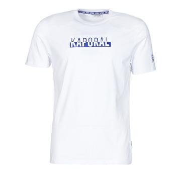 tekstylia Męskie T-shirty z krótkim rękawem Kaporal DINO Biały