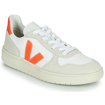 Buty Trampki niskie Veja V-10 Biały / Pomarańczowy