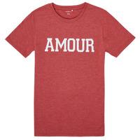 tekstylia Dziewczynka T-shirty z krótkim rękawem Name it NKFTHULIPPA Czerwony