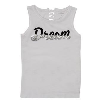 tekstylia Dziewczynka Topy na ramiączkach / T-shirty bez rękawów Name it NKFFASAI Biały