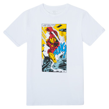 tekstylia Chłopiec T-shirty z krótkim rękawem Name it MARVEL Biały
