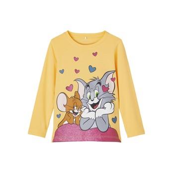 tekstylia Dziewczynka T-shirty z długim rękawem Name it TOM&JERRY Żółty