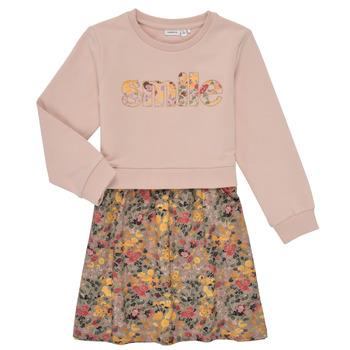 tekstylia Dziewczynka Sukienki krótkie Name it NMFBADA Szary