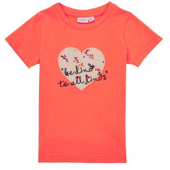 tekstylia Dziewczynka T-shirty z krótkim rękawem Name it NMFDELFIN TOP Koral