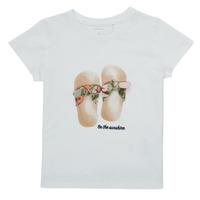 tekstylia Dziewczynka T-shirty z krótkim rękawem Name it NMFFISUMMER Biały