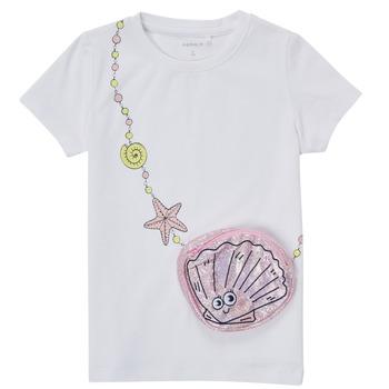 tekstylia Dziewczynka T-shirty z krótkim rękawem Name it NMFFEFA Biały