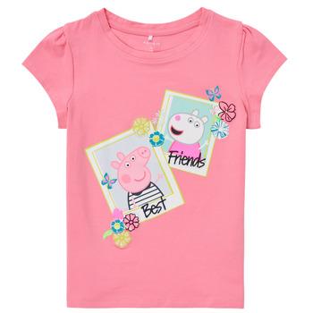 tekstylia Dziewczynka T-shirty z krótkim rękawem Name it PEPPAPIG Różowy