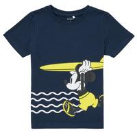 tekstylia Chłopiec T-shirty z krótkim rękawem Name it NMMMICKEY Marine
