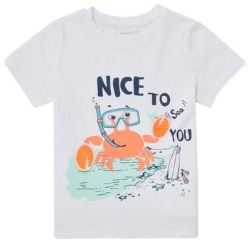 tekstylia Chłopiec T-shirty z krótkim rękawem Name it NMMFANO Biały
