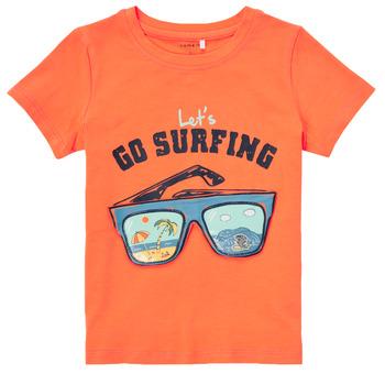 tekstylia Chłopiec T-shirty z krótkim rękawem Name it NMMFANO Pomarańczowy