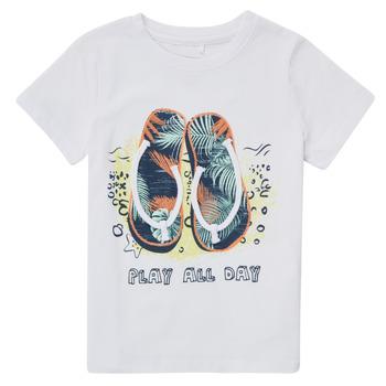 tekstylia Chłopiec T-shirty z krótkim rękawem Name it NMMFASHO Biały