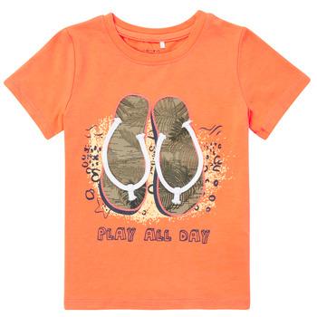 tekstylia Chłopiec T-shirty z krótkim rękawem Name it NMMFASHO Pomarańczowy