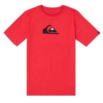 tekstylia Chłopiec T-shirty z krótkim rękawem Quiksilver COMP LOGO Czerwony