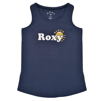 tekstylia Dziewczynka Topy na ramiączkach / T-shirty bez rękawów Roxy THERE IS LIFE FOIL Marine